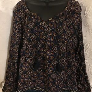 Old Navy Peasant Top size M
